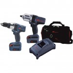 Ingersoll Rand IQV20 Cordless 1/2in. Impactool & 1/2in. Drill-Driver Combo Kit — With 2 Batteries, Model# IQV20-204