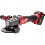 Milwaukee M18 FUEL 4 1/2in./5in. Grinder Kit — One M18 RedLithium XC 5.0 Battery, Slide Switch, Lock-On, Model# 2781-21