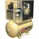 Ingersoll Rand Rotary Screw Compressor w/Total Air System — 200 Volts, 3-Phase, 10 HP, 38 CFM, Model# UP6-10TAS-125