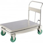 Vestil Hydraulic Elevating Cart — Stainless Steel, 1,100 Lb. Capacity, Model# CART-1100-SS