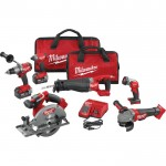 Milwaukee M18 FUEL Cordless 6-Tool Combo Kit, Model# 2896-26