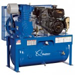 Quincy QT-7.5 Splash Lubricated Reciprocating Air Compressor — 14 HP, Kohler Gas Engine, 30-Gallon Horizontal, Model# G214K30HCD