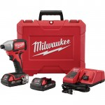 Milwaukee M18 1/4in. Hex Brushless Impact Driver Kit — 2 Batteries, Charger, Model# 2750-22CT