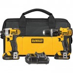 DEWALT 20 Volt Max Li-Ion 1/2in. Cordless Compact Hammerdrill & 1/4in. Impact Driver Combo Kit — With 2 Batteries, Model# DCK285C2