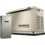 Generac Guardian Series Air-Cooled Home Standby Generator — 16 kW (LP)/16 kW (NG), 100 Amp Transfer Switch, Model# 7036
