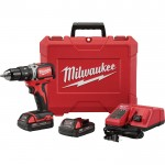 Milwaukee M18 1/2in. Compact Brushless Hammer Drill/Driver Kit — 2 Batteries, Charger, Model# 2702-22CT