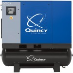 Quincy QGS Rotary Screw Compressor — 30 HP, 208/230/460V 3-Phase, 120 Gallon, 122 CFM, Model# 4152016772