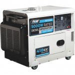 Pulsar Portable Diesel Generator — 7000 Surge Watts, 5000 Rated Watts, Electric Start, Model# PG7000D