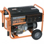 Generac GP5500 Portable Generator — 6875 Surge Watts, 5500 Rated Watts, CARB-Compliant, Model# GP5500
