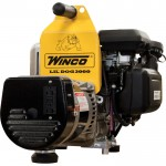 Winco Portable Industrial Lil' Dog Generator — 3000 Surge Watts, 2400 Rated Watts, Honda GC160 Engine, EPA and CARB Compliant, Model# W3000H