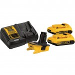DEWALT 18V–20V MAX Battery Adapter Kit — With (2) 20V MAX Batteries & Charger, Model# DCA2203C