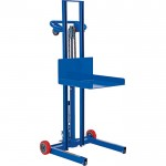 Vestil Low-Profile Lite Load Lift with Hydraulic (Foot Pump) Operation, Model# LLPH-500-FW