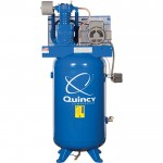 Quincy QT-5 Splash Lubricated Reciprocating Air Compressor — 5 HP, 230 Volt, 1 Phase, 80-Gallon Vertical, Model# 251CP80VCB