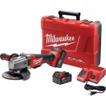 Milwaukee M18 FUEL 4 1/2in./5in. Grinder Kit — Two M18 RedLithium XC 5.0 Batteries, Paddle Switch, No-Lock, Model# 2780-22