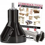 Lumberjack Tools Commercial Series Tenon Cutter Kit — Beginner Kit, 1 1/2in. Tenon Cutter and Forstner Bit, Model# CSBK1