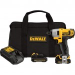 DEWALT Cordless Impact Driver Kit — 12 Volt MAX Li-Ion, 1/4in. Hex, Model# DCF815S2