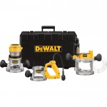 DEWALT Heavy-Duty 3-Base Router Kit — 2 1/4 HP, 12 Amp, Model# DW618B3