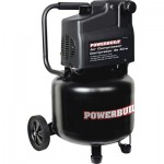 Powerbuilt 10-Gallon Vertical Electric Air Compressor — 2 HP, Oil-Free Pump, Model# 641137