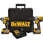 DEWALT Cordless MAX XR Lithium-Ion Brushless Premium Hammer Drill and Impact Driver Combo Kit — 20 Volt, Model# DCK299P2