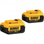 DEWALT 20V MAX Premium XR Lithium-Ion Battery — 2-Pk., 20 Volt, 4.0Ah, Model# DCB204-2