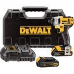 DEWALT 20 Volt Max Li-Ion Cordless Impact Driver — 1/4in. Chuck, Model# DCF885C2