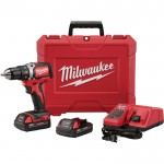Milwaukee® M18™ 1/2in. Compact Brushless Drill/Driver Kit — 2 Batteries, Charger, Model# 2701-22CT