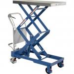 Vestil Hydraulic Elevating Cart — Manual Power, Double Scissor, 800-Lb. Capacity, 20in. x 30 1/2in. Platform, Model# CART-800-D-TS