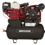 NorthStar Portable Gas Powered Air Compressor — Honda GX390 OHV Engine, 30-Gallon Horizontal Tank, 24.4 CFM @ 90 PSI