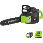 Greenworks 40 Volt Li-Ion Chainsaw — 14in. Bar, 3/8in. Chain Pitch, Model# CS40L210