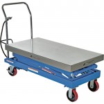 Vestil Scissor Cart — Air Hydraulic, 1500-Lb. Capacity, 47 1/4in.L x 24in.W, Model# AIR-1500-D
