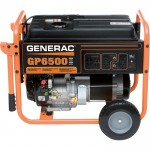 Generac GP6500 Portable Generator — 8125 Surge Watts, 6500 Rated Watts, CARB-Compliant, Model# 5946