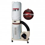 JET Dust Collector — 2 HP, 230 Volt, Model# DC-1200VX-BK1