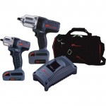 Ingersoll Rand IQV20 Cordless 1/2in. Impactool & 3/8in. Impactool Combo Kit — With 2 Batteries, Model# IQV20-2012
