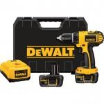 DEWALT Compact Cordless Drill/Driver Kit — 18 Volt, 1/2in., Model# DCD760KL
