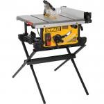 DEWALT 10in. Jobsite Table Saw with Scissor Stand — 28 1/2in. Rip Capacity, Model# DWE7490X