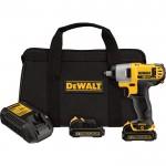 DEWALT Cordless Impact Wrench Kit — 12 Volt MAX Li-Ion, 3/8in., Model# DCF813S2