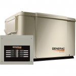 Generac PowerPact Air-Cooled Home Standby Generator — 7.5 kW (LP)/6 kW (NG), Steel Enclosure, Model# 6998