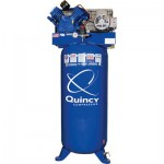 Quincy QT-54 Splash Lubricated Reciprocating Air Compressor — 5 HP, 230 Volt, 1 Phase, 60-Gallon Vertical, Model# 2V41C60VC
