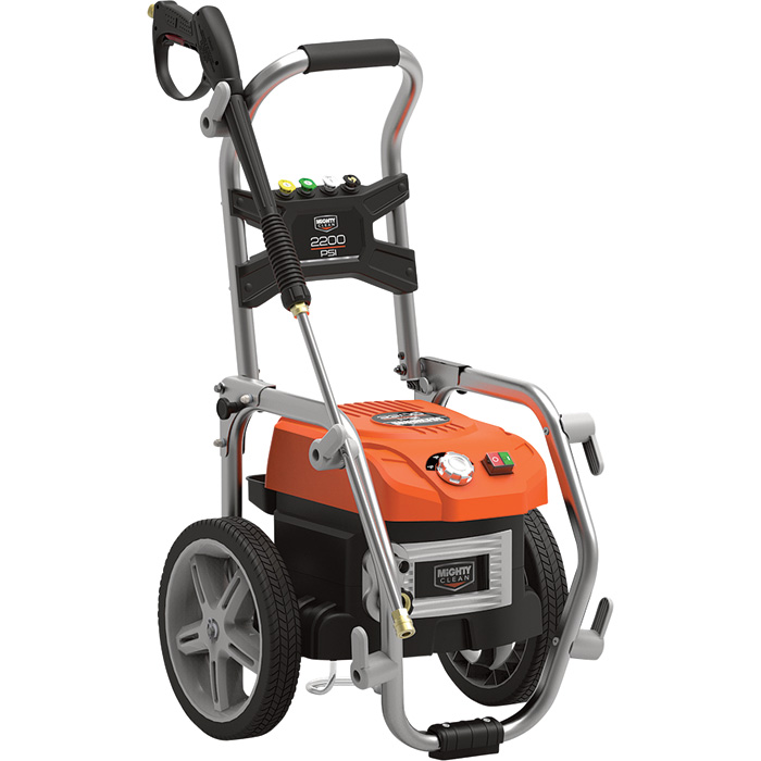 Mighty Clean Electric Cold Water Pressure Washer — 2200 PSI, 1 3 GPM