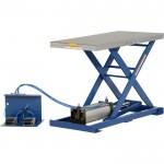 Vestil Scissor Lift Table — Rotary Air/Hydraulic, 48in.L x 48in.W, Model# AHLT-4848-3-43
