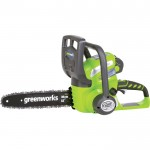 GreenWorks 40 Volt Li-Ion Chainsaw — 12in. Bar, 3/8in. Chain Pitch, Model# 20262