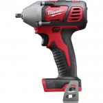 Milwaukee M18 Cordless Compact Impact Wrench — Tool Only, 3/8in. Friction Ring Anvil, 18 Volt, Model# 2658-20