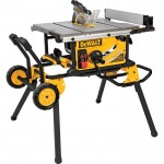DEWALT 10in. Jobsite Table Saw — 15 Amp, 32 1/2in. Rip Capacity, Rolling Stand, Model# DWE7491RS