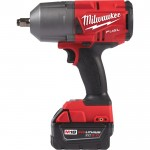 Milwaukee M18 FUEL Cordless High-Torque 1/2in. Impact Wrench with Friction Ring Kit— With 2 RedLithium XC 5.0 Li-Ion Batteries, Model# 2767-22