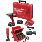 Milwaukee M18 FUEL 1/2in. Impact Wrench Kit — 700 Ft.-Lbs. Torque, With Friction Ring, LED Stick Light, Socket Set, Model# 2763–22NTE