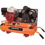 Industrial Air Gas-Powered Wheelbarrow Air Compressor — 9 HP Honda Engine, 9-Gallon, Model# CTA9090980ES