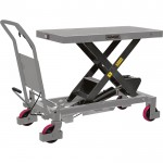 Roughneck Hydraulic Lift Table Cart — 2,200-Lb. Capacity