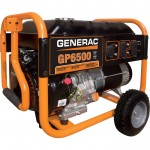 Generac GP6500 Portable Generator — 8125 Surge Watts, 6500 Rated Watts, Model# 5940