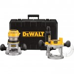 DEWALT Heavy-Duty Fixed Base/Plunge Router Kit — 1 3/4 HP, Model# DW616PK