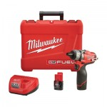 Milwaukee M12 FUEL Cordless Screwdriver Kit — 1/4in. Hex, 2-Speed, 12 Volt, With Compact 2.0 Ah Batteries, Model# 2402-22